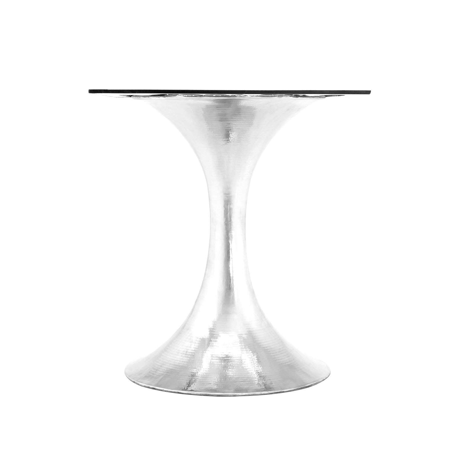 "Bungalow 5 - STOCKHOLM NICKEL DINING TABLE BASE (PAIRS WITH 52"" & 60"" TOP, SOLD SEPARATELY) in NICKEL"