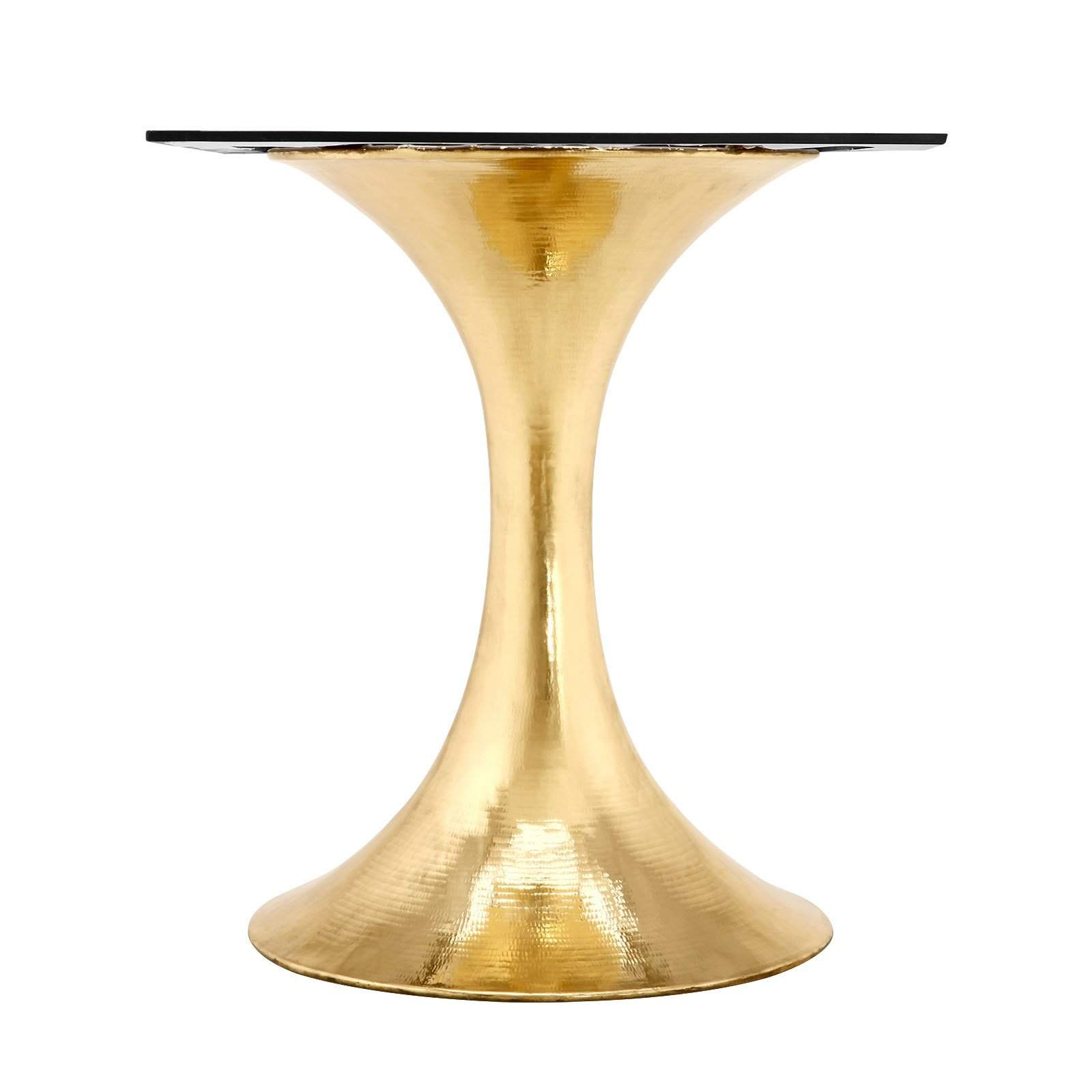 "Bungalow 5 - STOCKHOLM BRASS DINING TABLE BASE (PAIRS WITH 52"" & 60"" TOP, SOLD SEPARATELY) in BRASS"