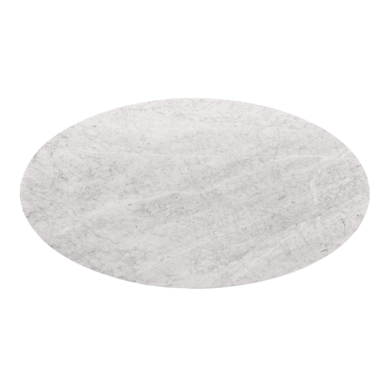 "Bungalow 5 - STOCKHOLM 95"" CARRERA OVAL DINING TABLE TOP (BASE SOLD SEPARATELY) in WHITE"