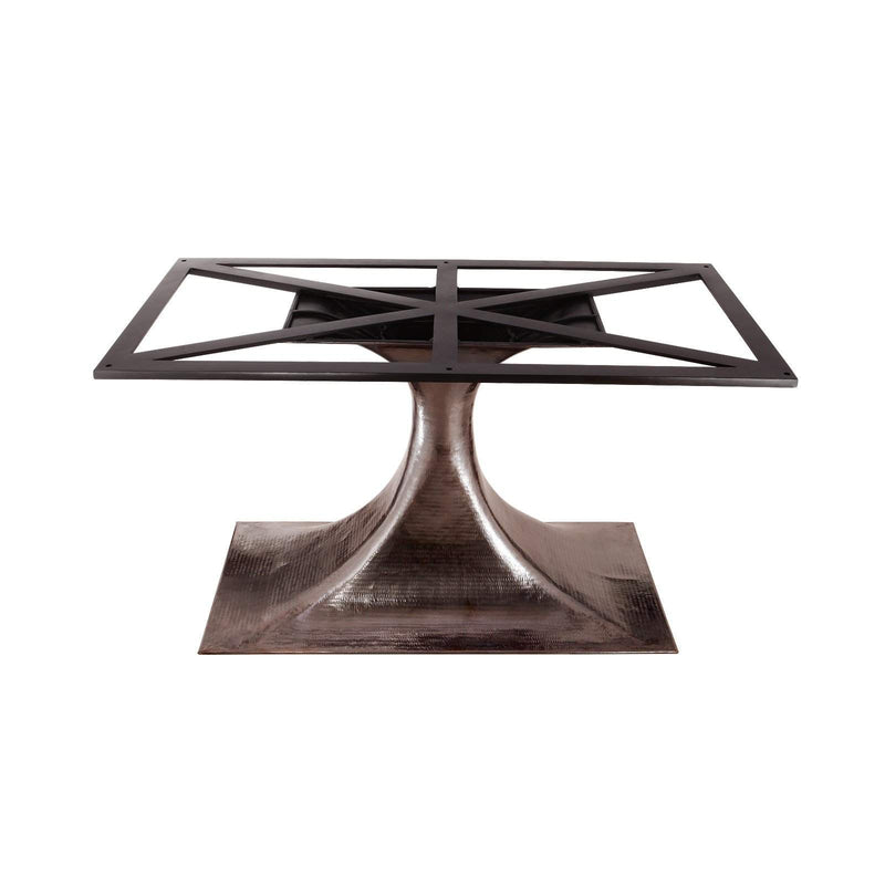 "Bungalow 5 - STOCKHOLM BRONZE OVAL DINING TABLE BASE (PAIRS WITH 95"" TOP, SOLD SEPARATELY). BRONZE-Bungalow 5-Blue Hand Home"