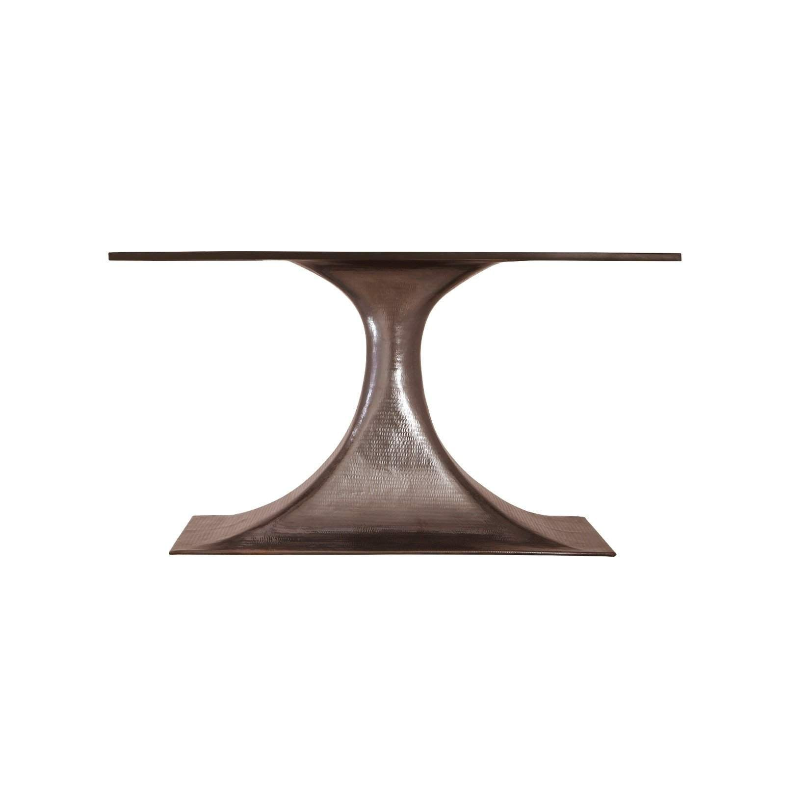 "Bungalow 5 - STOCKHOLM BRONZE OVAL DINING TABLE BASE (PAIRS WITH 95"" TOP, SOLD SEPARATELY). BRONZE"