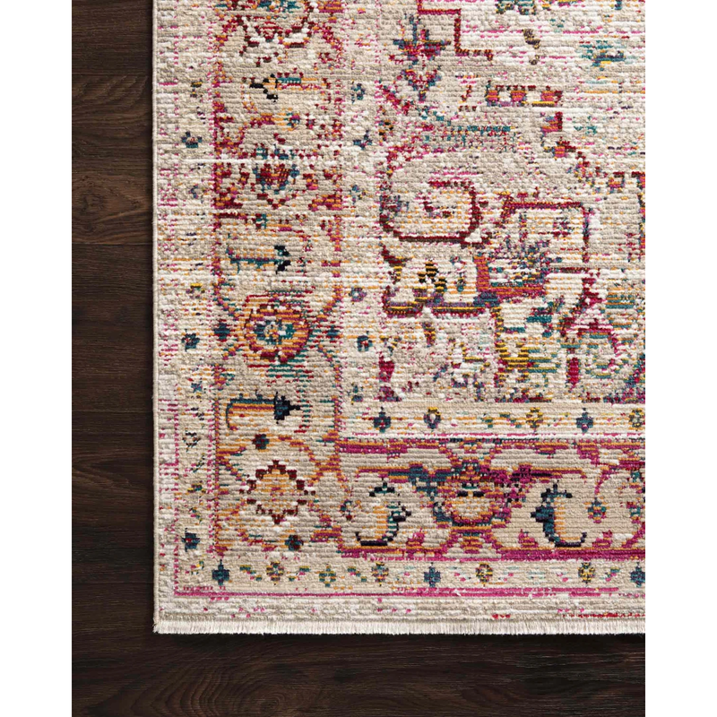 Justina Blakeney Rugs - Silvia - SIL-03 Natural/Multi-Loloi Rugs-Blue Hand Home