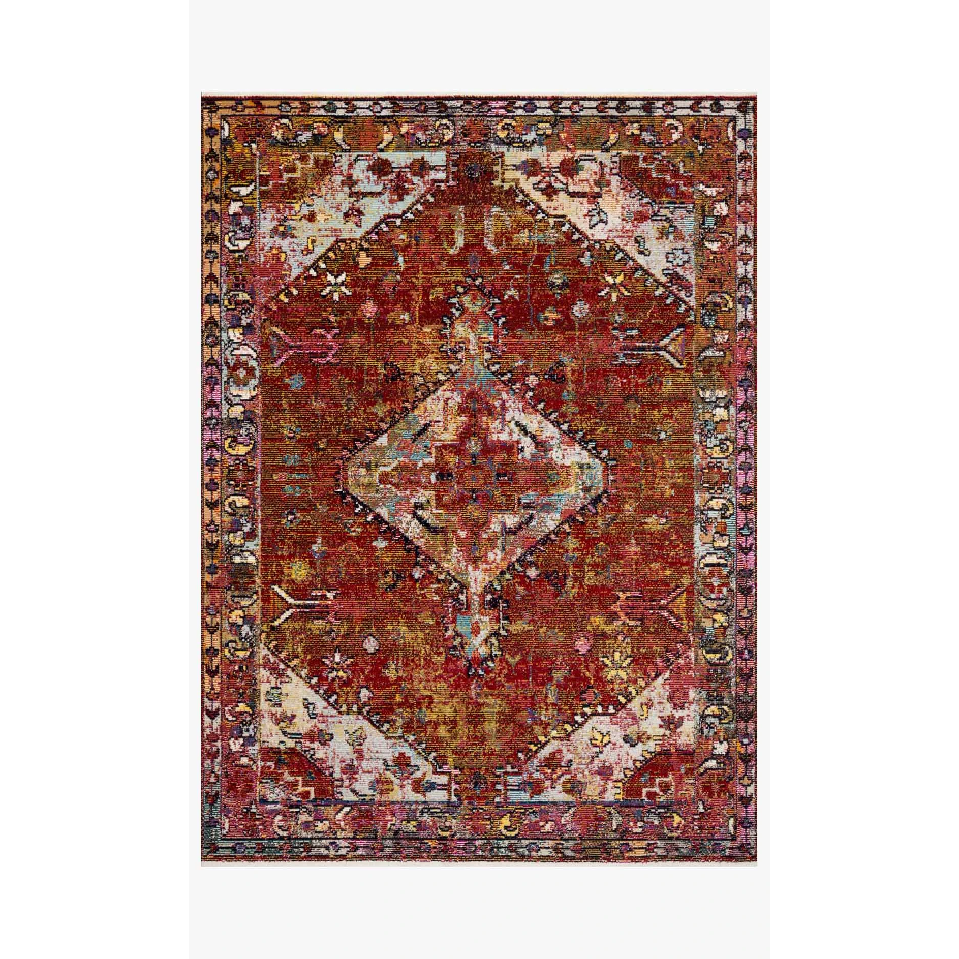 Justina Blakeney Rugs - Silvia - SIL-06 Red/Multi-Loloi Rugs-Blue Hand Home