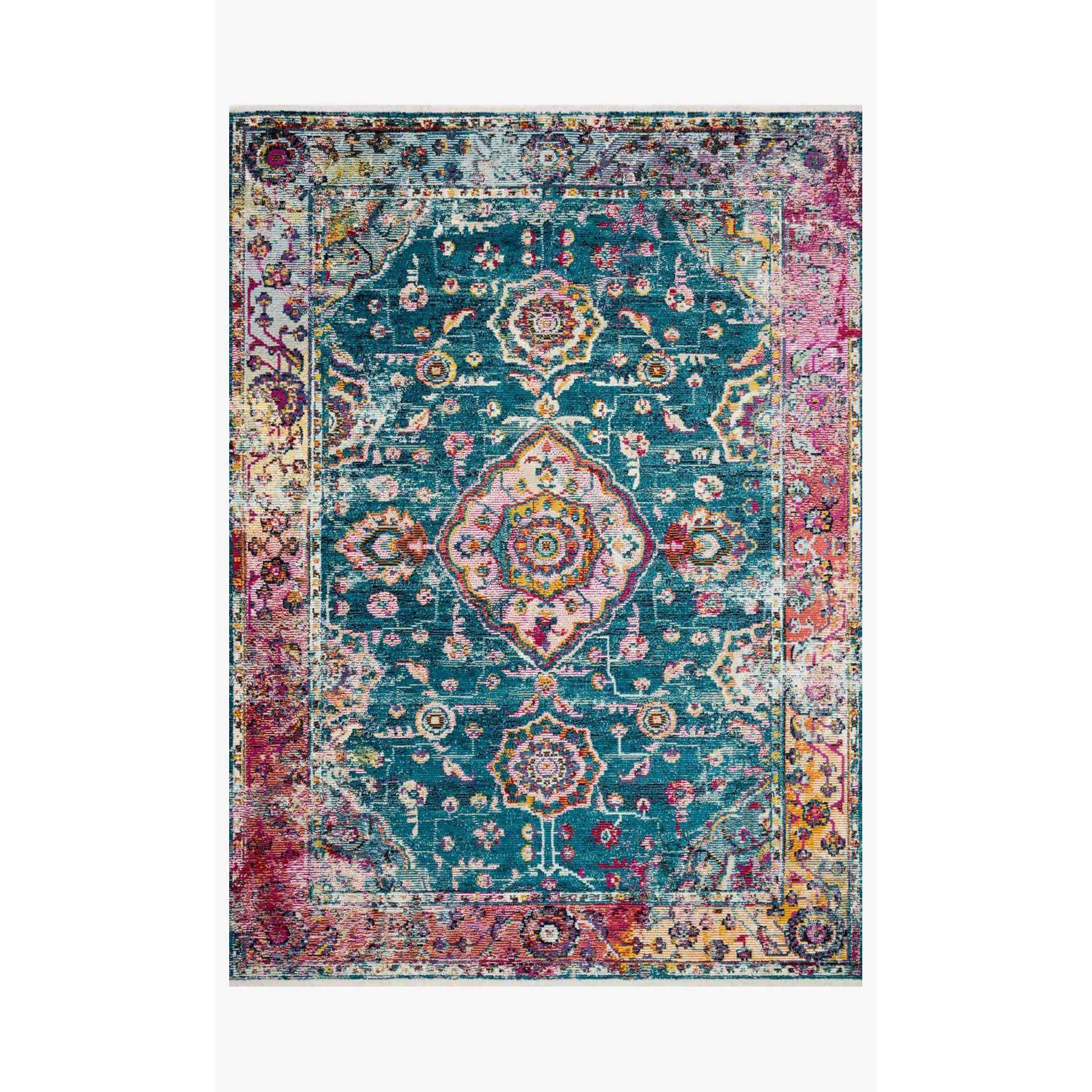 Justina Blakeney Rugs - Silvia - SIL-02 Teal/Berry-Loloi Rugs-Blue Hand Home