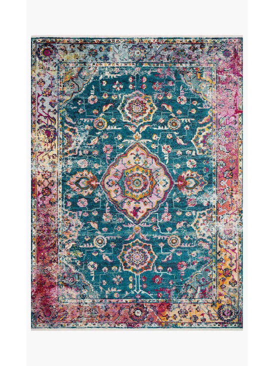 Justina Blakeney Rugs - Silvia - SIL-02 Teal/Berry