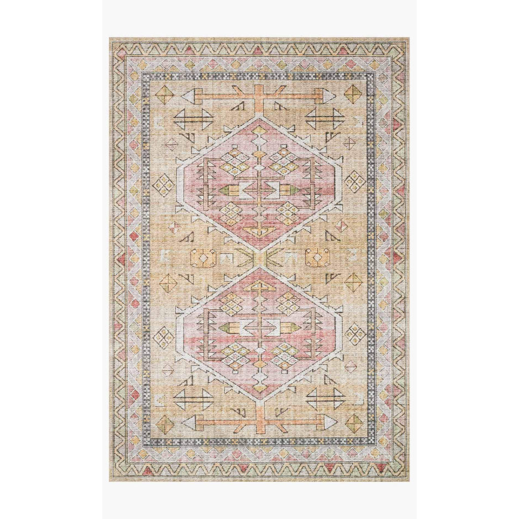 Skye Rug Collection by Loloi -Sky 04 Gold/Blush-Loloi Rugs-Blue Hand Home