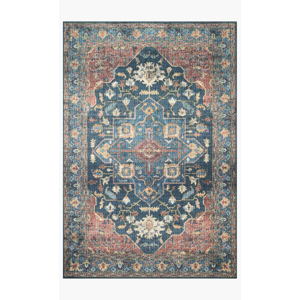 Skye Rug Collection by Loloi -Sky 08 Denim/Brick-Loloi Rugs-Blue Hand Home