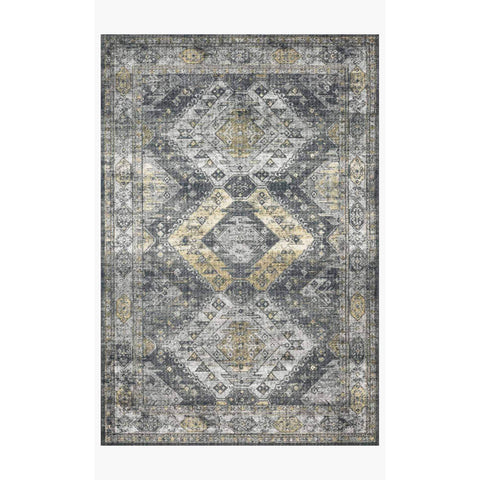 Skye Rug Collection by Loloi -Sky 09 Graphite/Silver