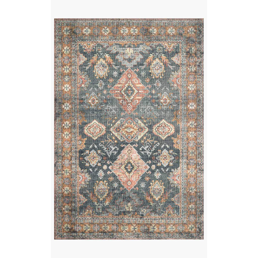 Skye Rug Collection by Loloi -Sky 10 Sea/Rust-Loloi Rugs-Blue Hand Home