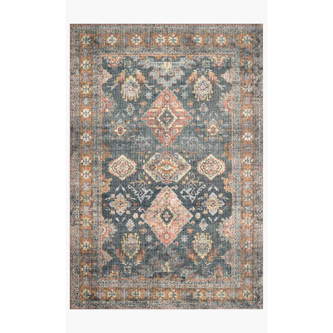 Skye Rug Collection by Loloi -Sky 10 Sea/Rust