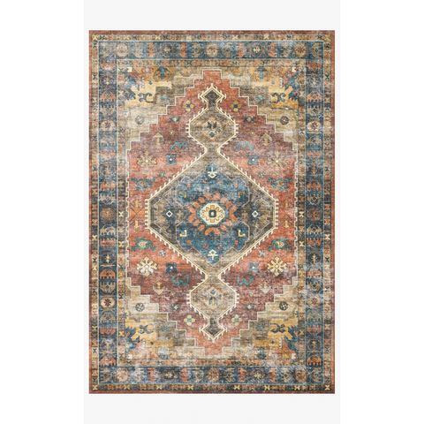 Skye Rug Collection by Loloi -Sky 11 Rust/Blue