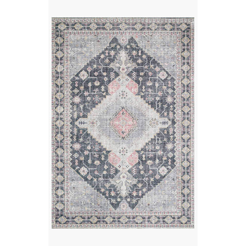 Skye Rug Collection by Loloi -Sky 02 Charcoal/Multi