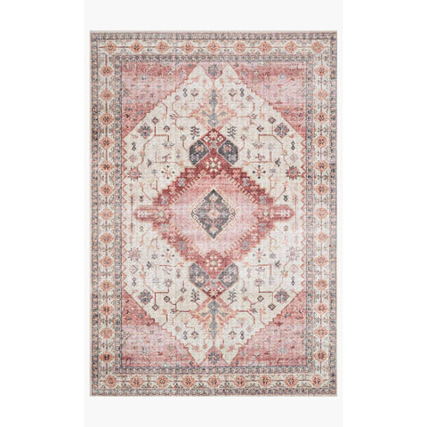 Skye Rug Collection by Loloi -Sky 02 Ivory/Berry