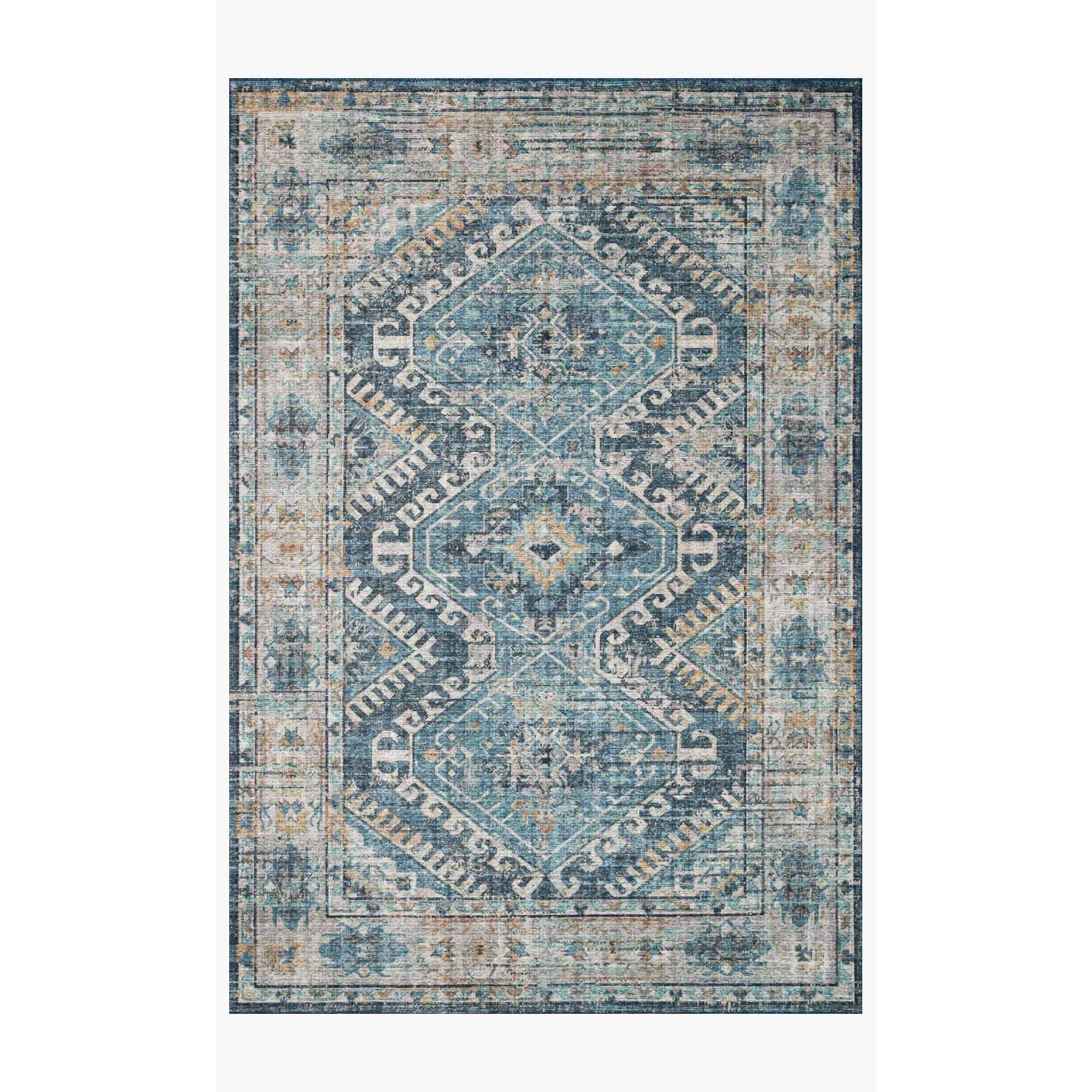 Skye Rug Collection by Loloi -Sky 03 Denim/Natural-Loloi Rugs-Blue Hand Home