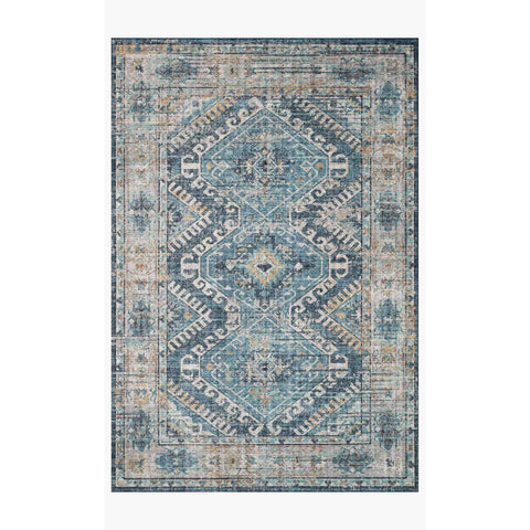 Skye Rug Collection by Loloi -Sky 03 Denim/Natural