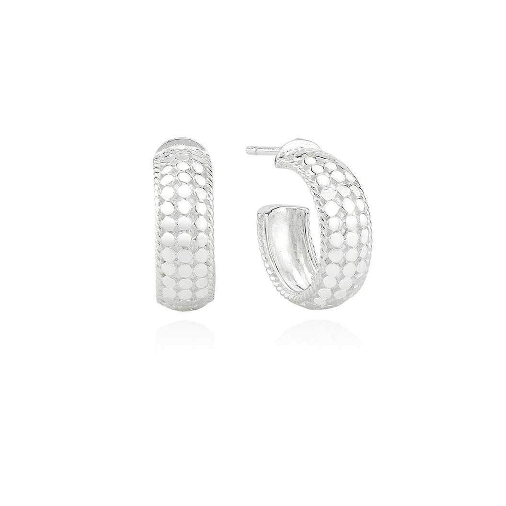 Anna Beck Small Dome Hoop Earrings - Silver-Anna Beck Jewelry-Blue Hand Home