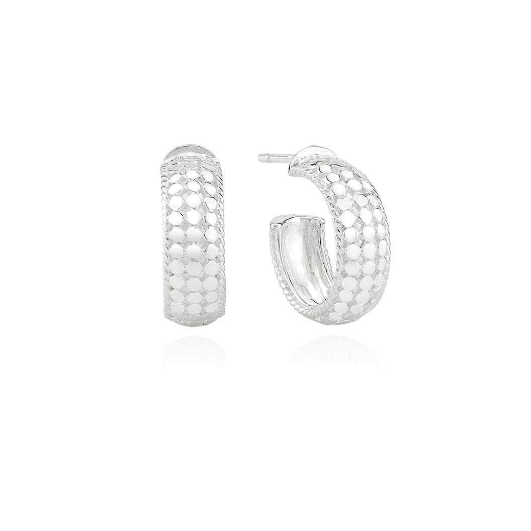 Anna Beck Small Dome Hoop Earrings - Silver