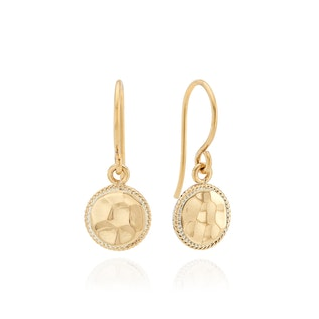 Anna Beck Small Hammered Drop Earrings - Gold-Anna Beck Jewelry-Blue Hand Home