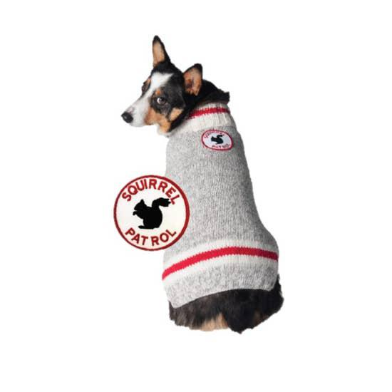 Squirrel Patrol Patch Dog Sweater-Chilly Dog-Blue Hand Home