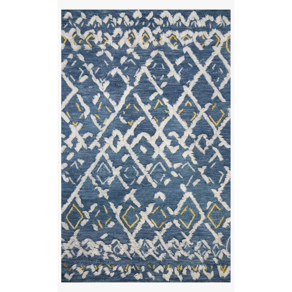 Justina Blakeney Rugs - Symbology - SYM-04 DENIM/DOVE-Loloi Rugs-Blue Hand Home