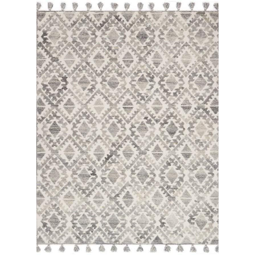 Joanna Gaines of Magnolia Home Teresa Rug Collection - TK-03 Ivory/Silver