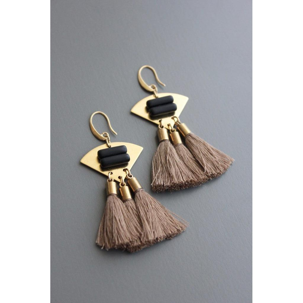 David Aurbrey Earrings -TLDE28-David Aubrey-Blue Hand Home