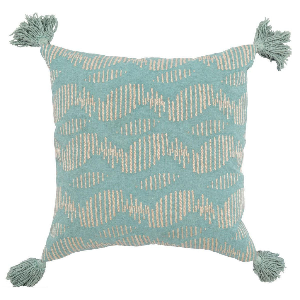 Tallulah Blue Pillow-Classic Home-Blue Hand Home