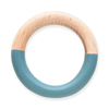Wood & Resin Bangle-Ink + Alloy-Blue Hand Home