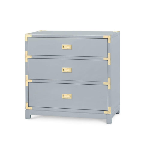 Bungalow 5 - VICTORIA 3-DRAWER SIDE TABLE in GRAY - Blue Hand Home