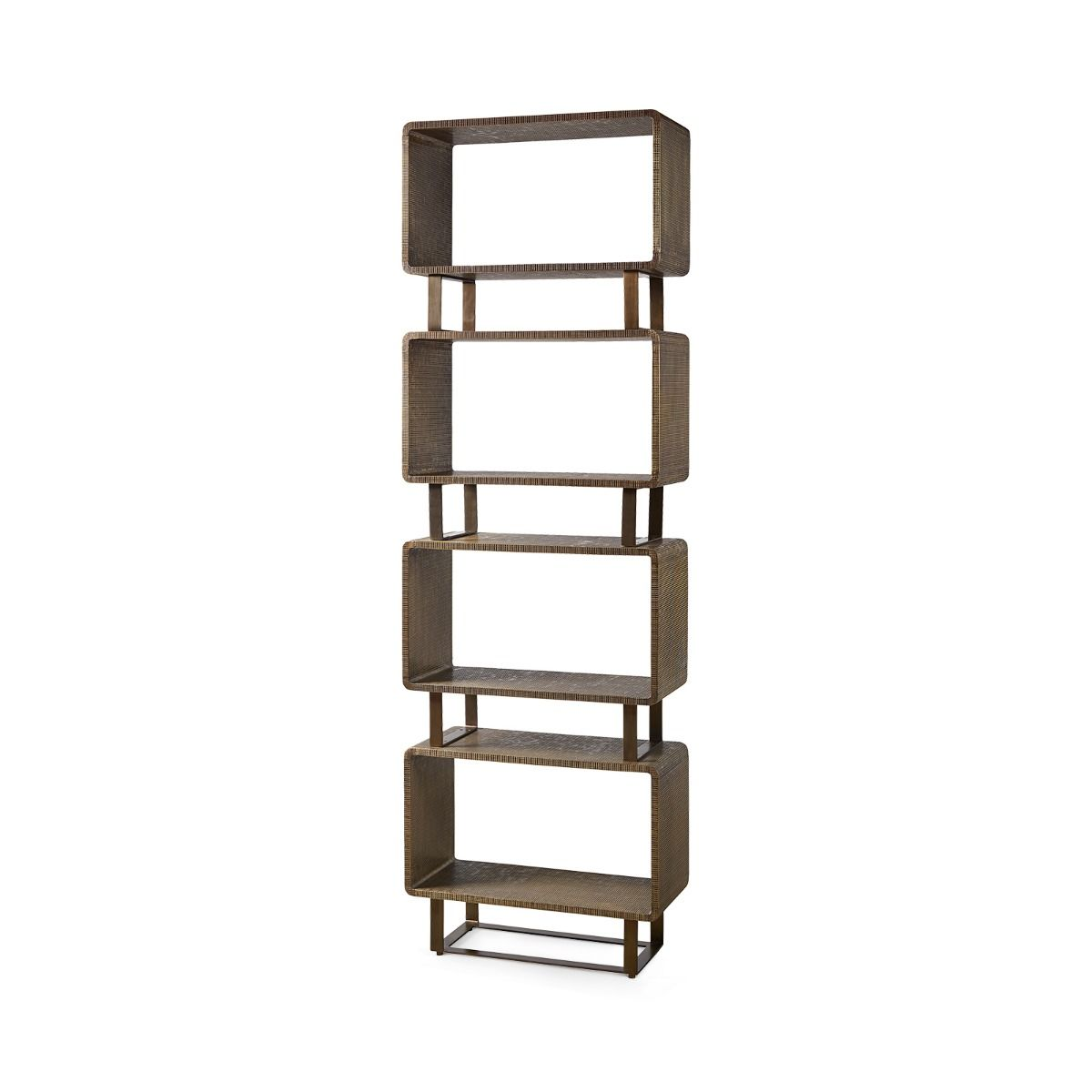 Bungalow 5 - VERRA ETAGERE, ANTIQUE BRASS-Bungalow 5-Blue Hand Home