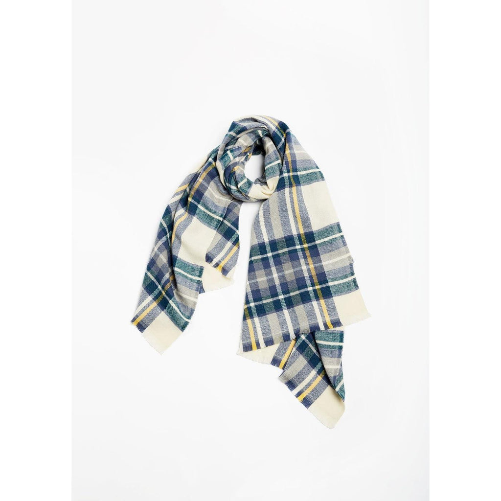 Vintage Color Plaid Scarf-Look-Blue Hand Home