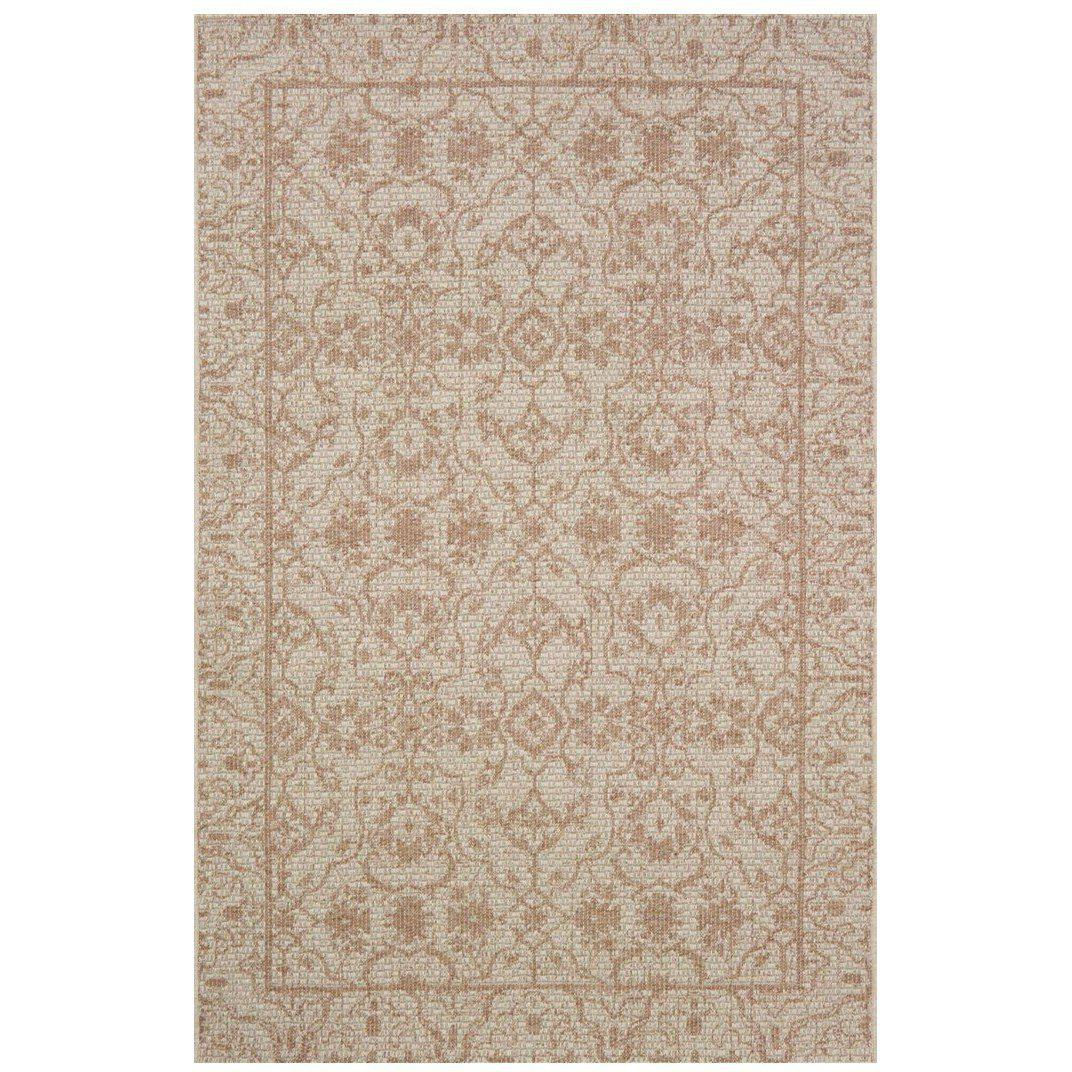 Joanna Gaines Magnolia Home Rug - Warwick Collection - Sand / Nutmeg-Loloi Rugs-Blue Hand Home