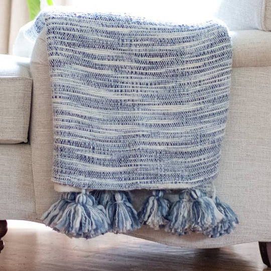 Watercolor Abstract Woven Throw