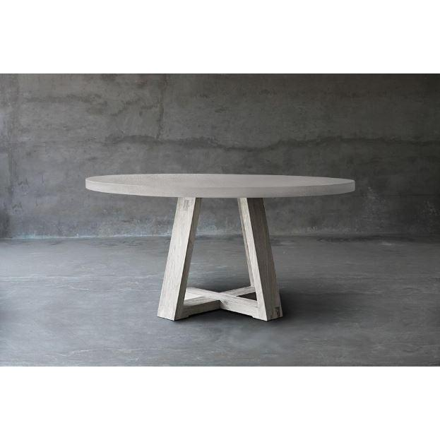 Concrete Top Dining Table - X Base-Organic Restoration-Blue Hand Home