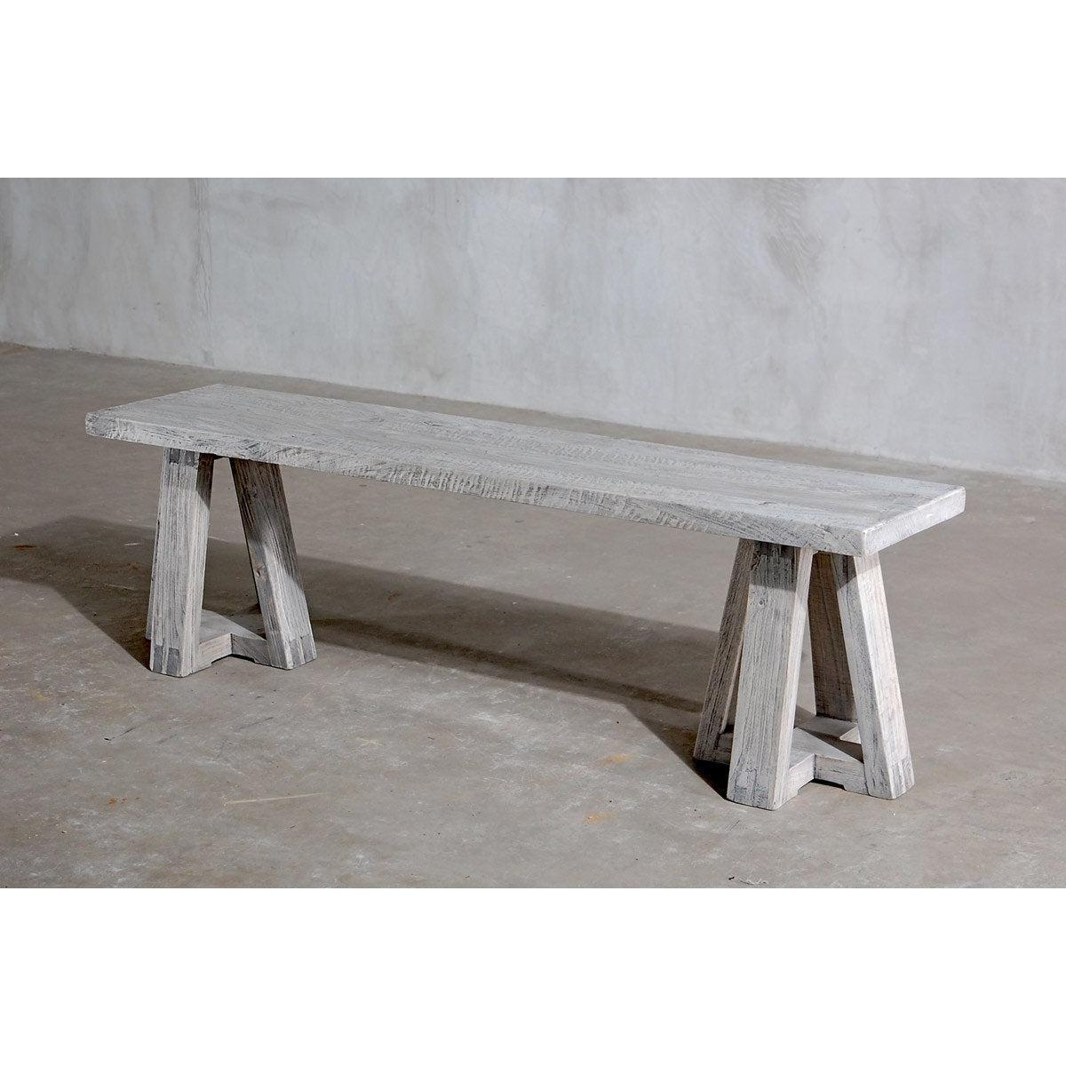 Reclaimed Elm Bench-Organic Restoration-Blue Hand Home
