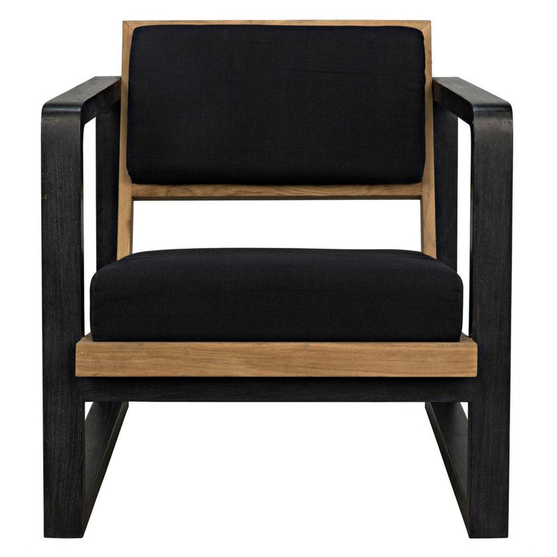 Noir Mala Chair, Charcoal Black-Noir Furniture-Blue Hand Home