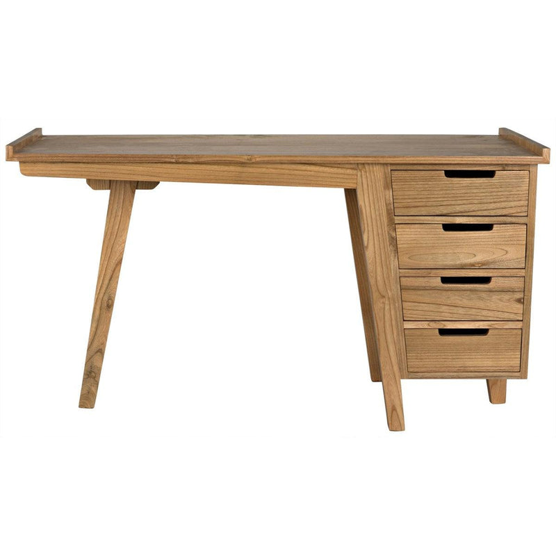 Noir Furniture Kennedy Desk, Natural-Noir Furniture-Blue Hand Home