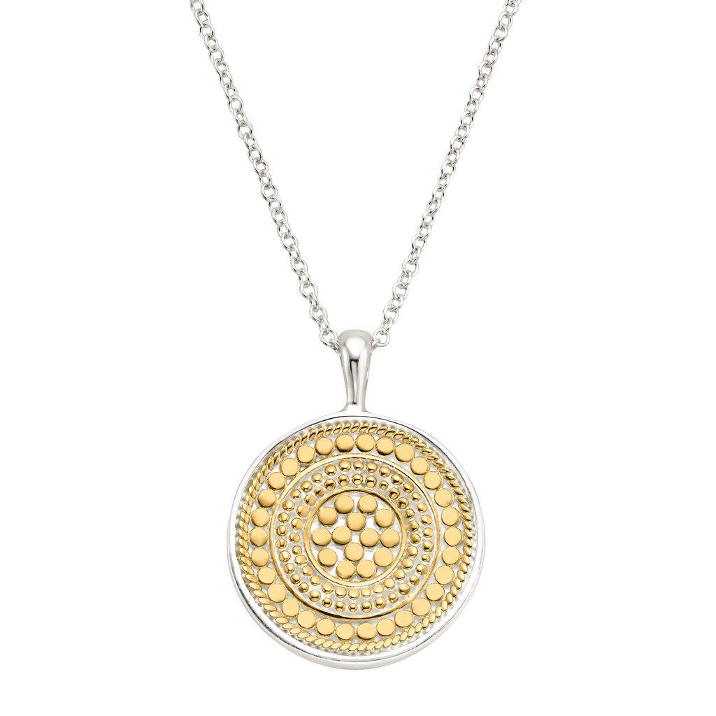 "Anna Beck Signature Medallion Pendant Necklace 24-26""(Reversible)"