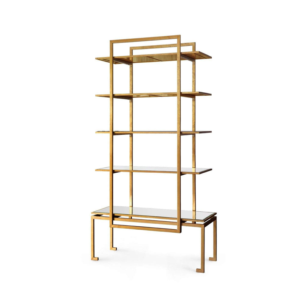 Bungalow 5 - ANTON ETAGERE in GOLD-Bungalow 5-Blue Hand Home