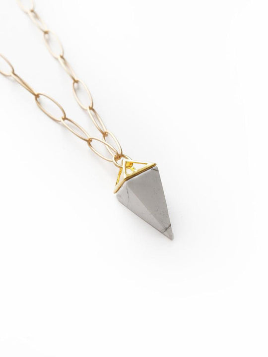 Larissa Loden Jewelry  - Stone Pyramid Necklace