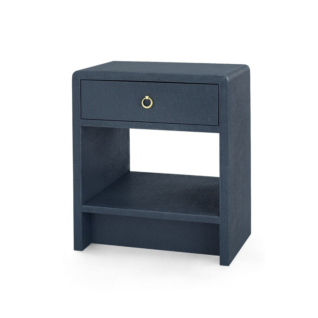 Bungalow 5 - BENJAMIN 1-DRAWER SIDE TABLE, NAVY BLUE-Bungalow 5-Blue Hand Home
