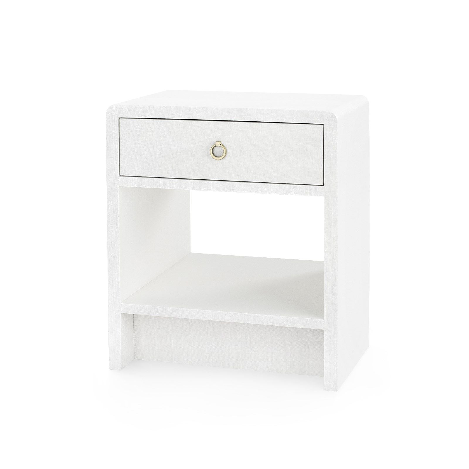 Bungalow 5 - BENJAMIN 1-DRAWER SIDE TABLE, WHITE LINEN-Bungalow 5-Blue Hand Home