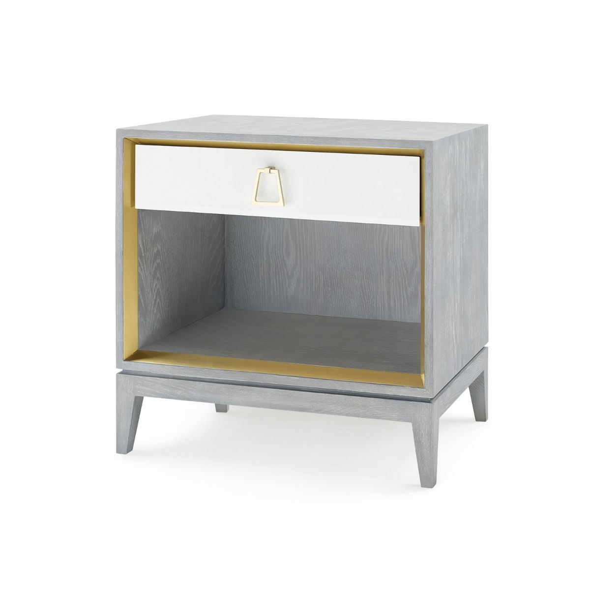 Bungalow 5 - CAMERON 1-DRAWER SIDE TABLE, GRAY