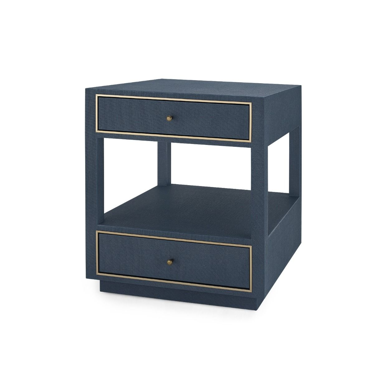 Bungalow 5 - Carmen 2-Drawer Side Table - Navy Blue-Bungalow 5-Blue Hand Home