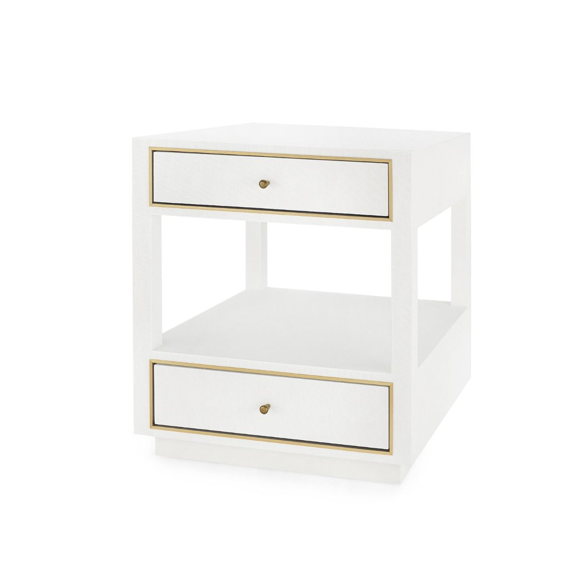 Bungalow 5 - Carmen 2-Drawer Side Table - White-Bungalow 5-Blue Hand Home