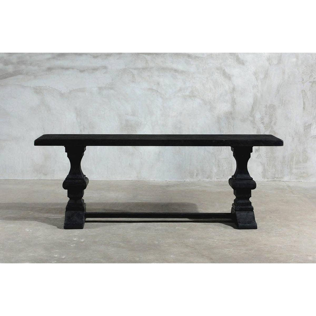 Reclaimed Elm Console - Rail Legs w/ Center Beam-Organic Restoration-Blue Hand Home