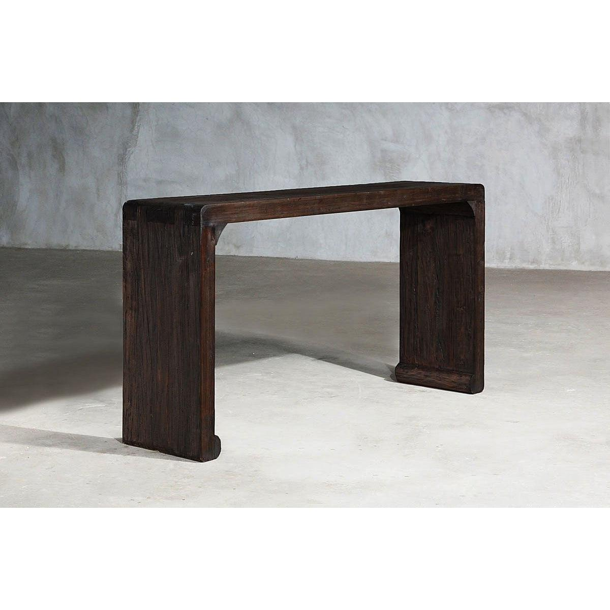 Reclaimed Elm Taper Console-Organic Restoration-Blue Hand Home