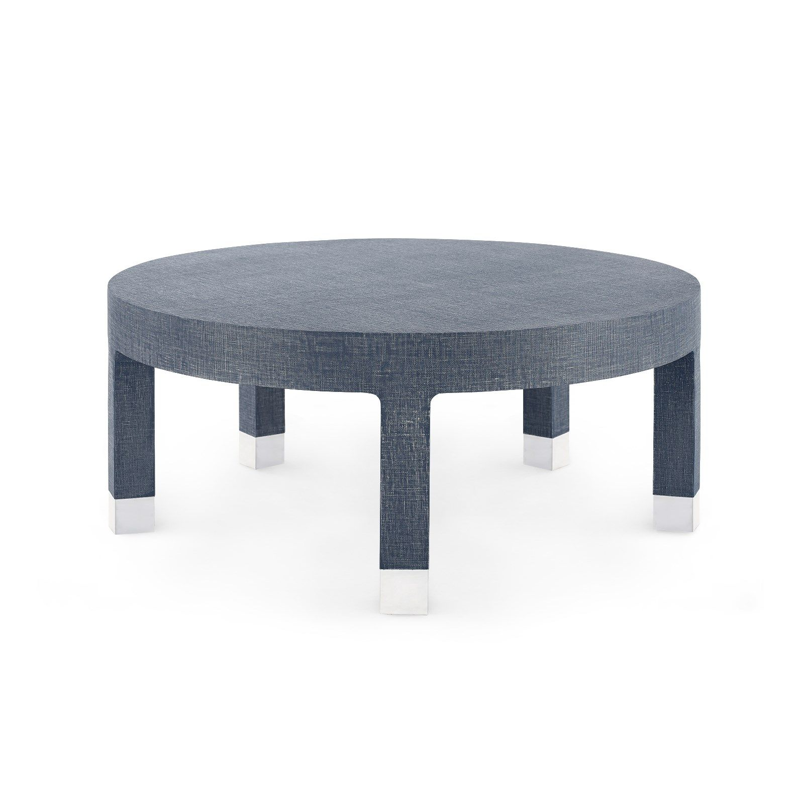 Bungalow 5 - DAKOTA LARGE ROUND COFFEE TABLE, NAVY BLUE