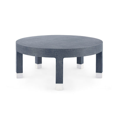 Bungalow 5 - DAKOTA LARGE ROUND COFFEE TABLE, NAVY BLUE-Bungalow 5-Blue Hand Home