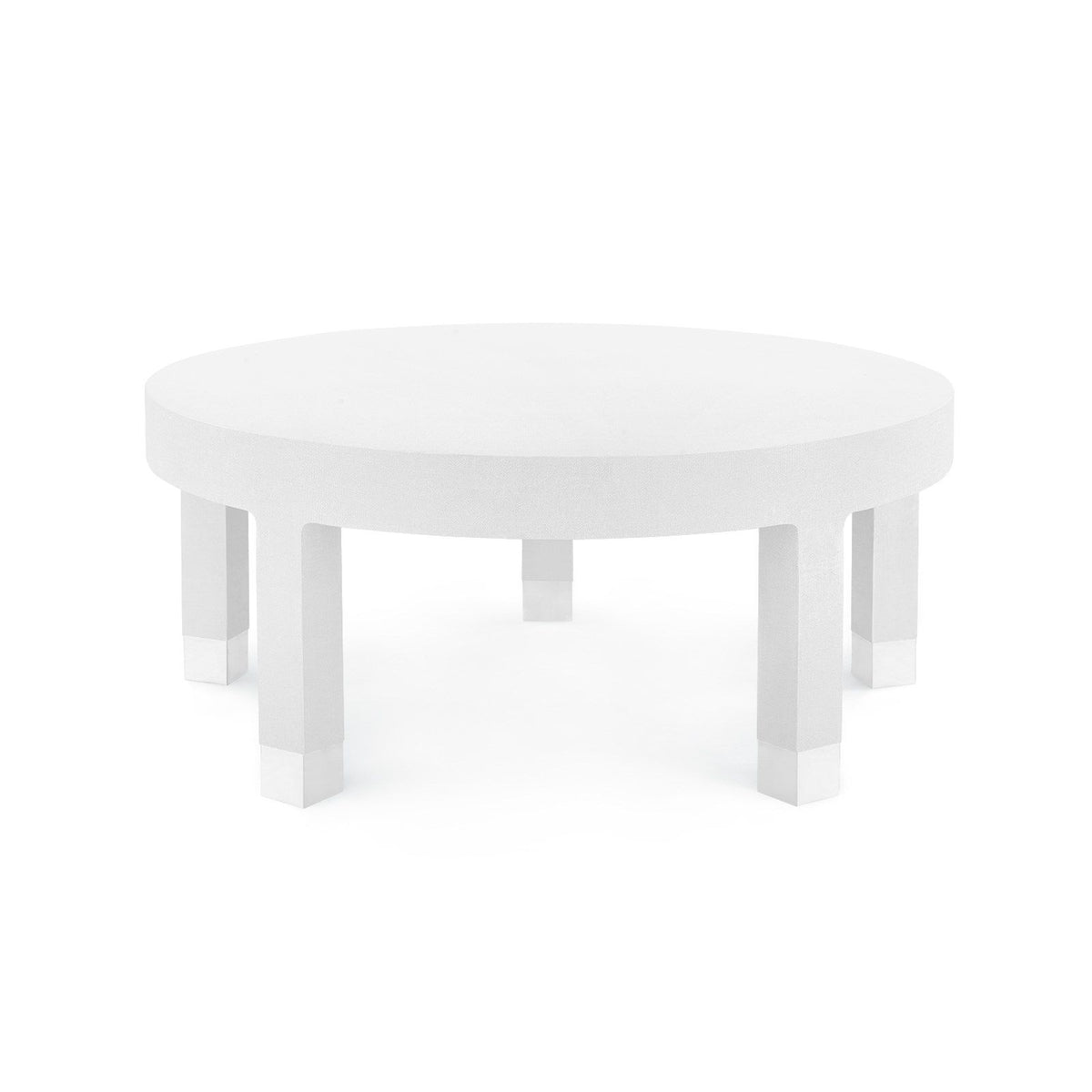 Bungalow 5 - DAKOTA LARGE ROUND COFFEE TABLE, WHITE-Bungalow 5-Blue Hand Home